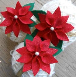 Stella Di Natale Con Perline.Stella Di Natale Di Pannolenci