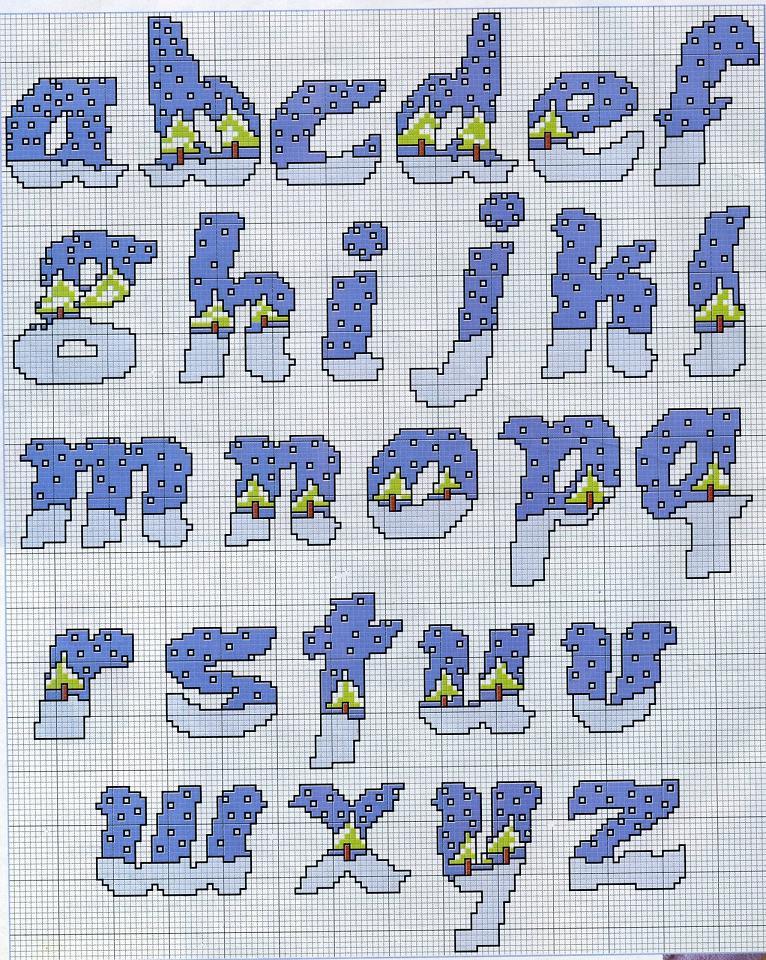 Schemi per alfabeto e numeri a punto a croce for Schemi punto croce alfabeto bambini